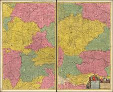 Austria, Poland, Czech Republic & Slovakia and Germany Map By Pierre Mortier
