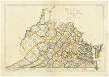 West Virginia and Virginia Map By Mathew Carey