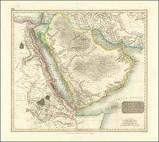 Middle East and Arabian Peninsula Map By John Thomson