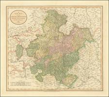 Süddeutschland Map By John Cary