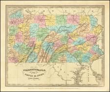 Pennsylvania Map By David Hugh Burr