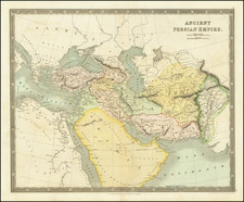 Central America, Middle East, Arabian Peninsula and Persia Map By Henry Teesdale