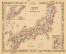 Japan Map By Benjamin P Ward  &  Alvin Jewett Johnson