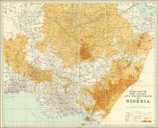 West Africa Map By Survey Department, Nigeria