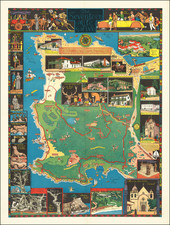 California and Other California Cities Map By Jo Mora