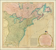 United States Map By Richard Holmes Laurie  &  James Whittle