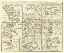 Particular Draughts of some of the Principal Towns and Harbours belonging to the English French and Spanish in America and the West Indies.  (Boston, New York, Charleston &c). By Emanuel Bowen