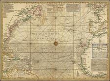Atlantic Ocean Map By Emanuel Bowen