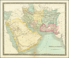 Middle East, Arabian Peninsula and Persia Map By Henry Teesdale