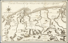 Hispaniola Map By Jacques Nicolas Bellin / Porlier