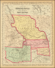 Midwest, Minnesota, Plains, Kansas, Nebraska, North Dakota, South Dakota, Oklahoma & Indian Territory, Southwest, Colorado, New Mexico, Rocky Mountains, Colorado, Montana and Wyoming Map By Charles Desilver