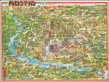 Texas and Pictorial Maps Map By Archar Inc.