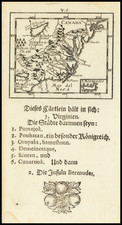 New York State, Mid-Atlantic, Southeast and Midwest Map By Johann Ulrich Muller