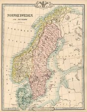 Europe and Scandinavia Map By G.F. Cruchley