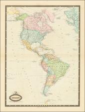 America Map By F.A. Garnier