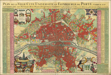 Paris Map By Pierre Mortier / Nicolas de Fer