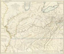 Kentucky, Tennessee, Virginia, Midwest, Illinois, Indiana and Ohio Map By Thomas Hutchins