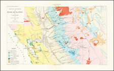 California and Geological Map By Edmond Guillemin-Tarayre