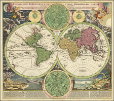World Map By Johann Baptist Homann