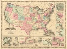 United States and Idaho Map By Alvin Jewett Johnson  &  Benjamin P Ward