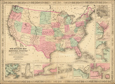 United States and Idaho Map By Benjamin P Ward  &  Alvin Jewett Johnson