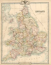 Europe and British Isles Map By G.F. Cruchley