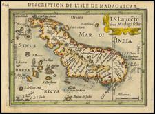African Islands, including Madagascar Map By Petrus Bertius