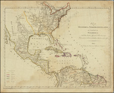 United States, Kentucky, Tennessee and Caribbean Map By Kunst & Industrie Comptoir