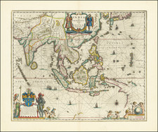 India quae Orientalis dicitur et Insulae Adiacentes By Willem Janszoon Blaeu