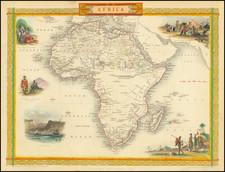 Africa Map By John Tallis