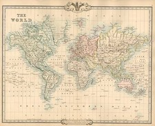 World and World Map By G.F. Cruchley
