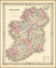 Ireland Map By Joseph Hutchins Colton