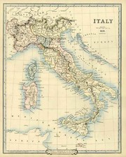 Europe, Italy and Balearic Islands Map By G.F. Cruchley