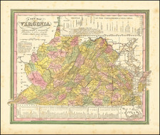 West Virginia and Virginia Map By Henry Schenk Tanner