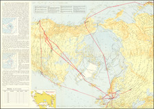 Polar Maps and Scandinavia Map By Scandinavian Airlines Systems