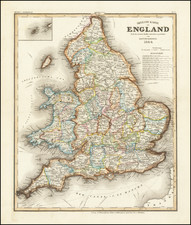 England Map By Joseph Meyer