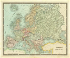 Europe Map By Henry Teesdale