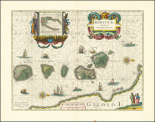 Indonesia Map By Willem Janszoon Blaeu