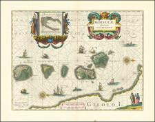 (Maluku / Spice Islands)  Moluccae Insulae Celeberrimae By Willem Janszoon Blaeu