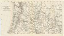 Idaho, Montana, Oregon, Washington and British Columbia Map By United States GPO