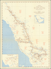 Middle East and Arabian Peninsula Map By Wilfred Patrick Thesiger