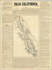 Baja California Map By Antonio Garcia y Cubas