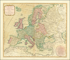 Europe Map By Laurie & Whittle