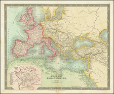 Europe, Italy and Mediterranean Map By Henry Teesdale