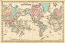 World Map By Joseph Hutchins Colton