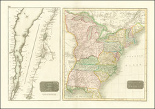 United States and Eastern Canada Map By John Thomson