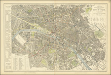 Paris Map By Letts, Son & Co. Limited