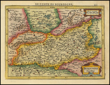 France Map By Henricus Hondius -  Gerard Mercator
