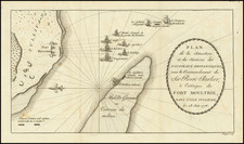Southeast, South Carolina and American Revolution Map By Charles Picquet