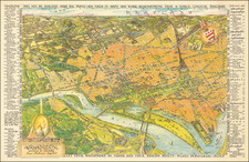 Washington, D.C. and Pictorial Maps Map By Henrietta Lintner  &  Oliver Whitwell Wilson